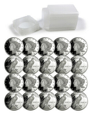 Roll of 20 - Peace Silver Dollar Design 1 Troy Ounce .999 Silver Rounds SKU34195