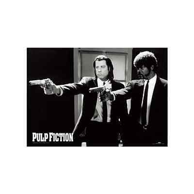 "Pulp Fiction Black & White Guns 3d Moving Lenticular Poster 10""x 8"""