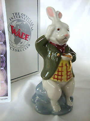 WADE WHITE RABBIT - FROM  ALICE IN WONDERLAND - MIB WITH CERT. 1999
