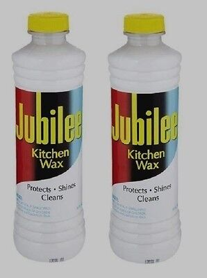 *2* 15 oz JUBILEE Kitchen Wax CLEANER Protects Shines Multi Room & Surface NEW!!