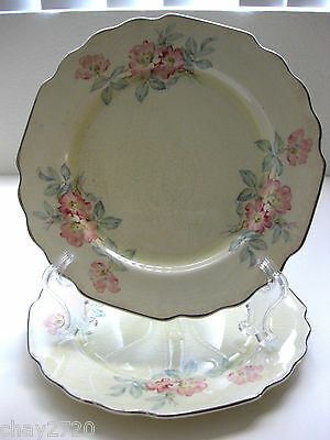 VTG. PAIR OF LIDO SALAD PLATE 7.5 INCHES BY W.S. GEORGE 382A PATTERN, USA