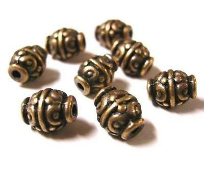12pc antique copper lead and nickel free fancy bead-1829