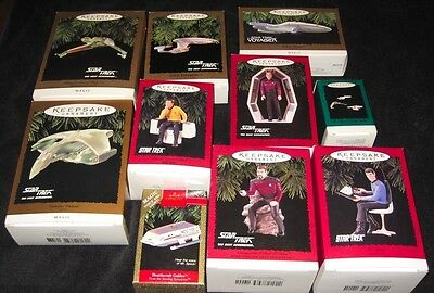 Hallmark Keepsake Ornaments - Star Trek - Bundle (of 10)