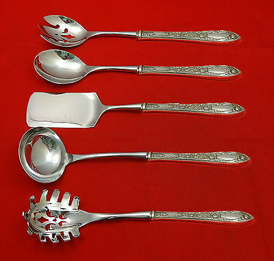 Rose by Kirk Sterling Silver Hostess Set 5pc HHWS  Custom Made