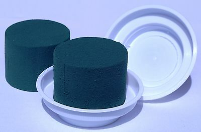 10 White Junior Bowls and 10 Ideal Cylinder Oasis Floral Foam