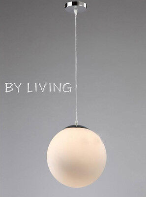 Modern Contemporary Round Milky Frost White Glass pendant hanging light