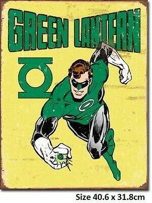 Green Lantern Tin Sign 1735  Made in USA Licensed