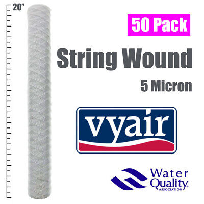 "50x 20"" Wound 5 Micron Particle Filter, For Water/ Bio-Diesel/ Veg Oil & More"