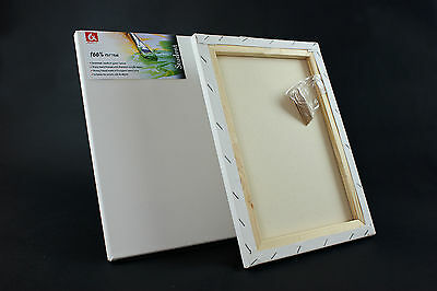 "16x12 "" STRETCHED CANVAS ARTIST BLANK ACRYLIC PRIMED BOX FRAMED 100% COTTON ART"