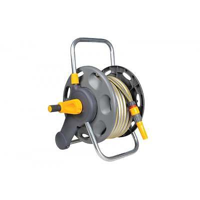 Hozelock 2in1 45m Hose Reel With 25m Hose Pipe Wall Mount Or Free Standing 2431