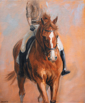 Horse equine dressage LE print 'Schooling II' from an original oil by H Irvine