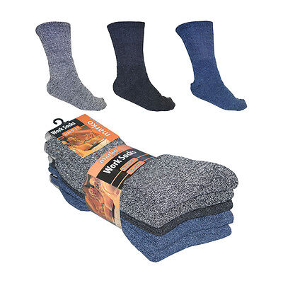 Mens Work Socks 5 Pairs Multi Pack Coloured Warm Winter Boot Welly Sizes 9-11