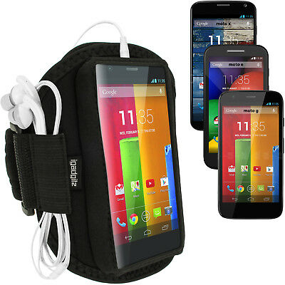 Black Running Sports Armband for Motorola Moto G X E Jogging Case Fitness Gym