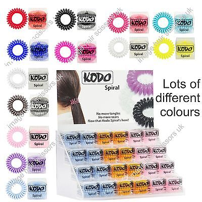 The Bobble Spiral KODO Invisible Flexible Hair Band PACK of 3 Choice of colours