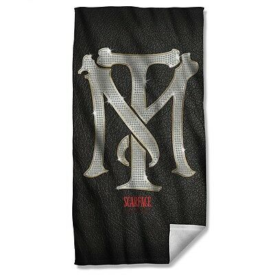 "Scarface Movie Tony Montana Monogram Licensed Beach Towel 30"" X 60"""