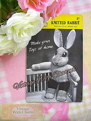 Read Note Vintage Rabbit Peter Toy Knitting Pattern 185