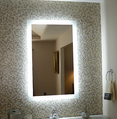 LIGHTED BATHROOM VANITY make up mirror, led lighted, wall mounted ...