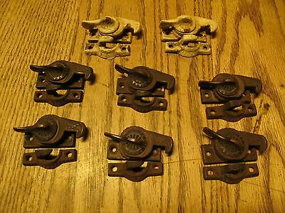 Eight Antique Eagle Claw Design Cast Iron Window Sash Locks By Ives