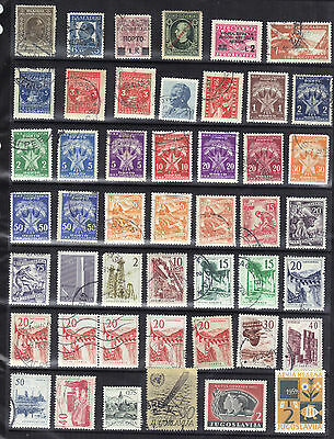 YUGOSLAVIA & Area Old STAMP COLLECTION Mainly Used Ref:F351