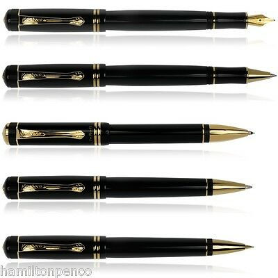 KAWECO DIA 2 GOLD TRIM - Full range of writing systems in gloss black & gold