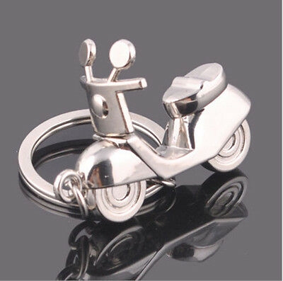New Electric Bicycle Keyring Keychain Classic 3D Pendant Key Chain Creative Gift