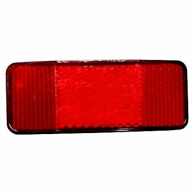 Bicycle Rear Rack Carrier Rectangular Reflectors Red With Fittings