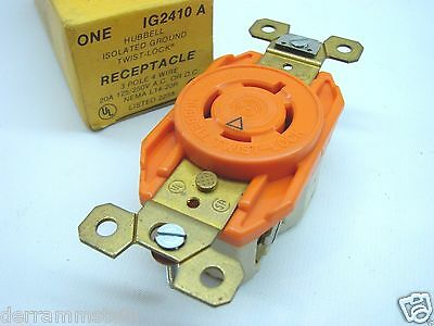 Hubbell IG2410 L14-20R ISO GND Locking Receptacle Outlet 20A 125/250V b92/b95