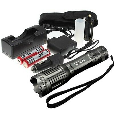2200LM UltraFire CREE T6 LED Focus Torch Flashlight Light+Charger+18650
