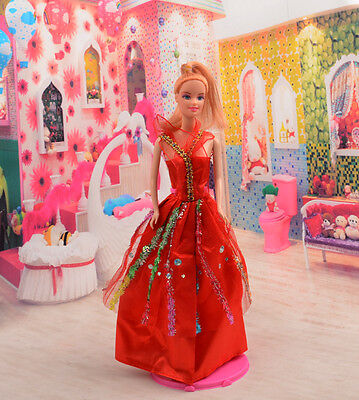 2014 Hot style Fashion Handmade princess  party Clothes dress For Noble Doll D09