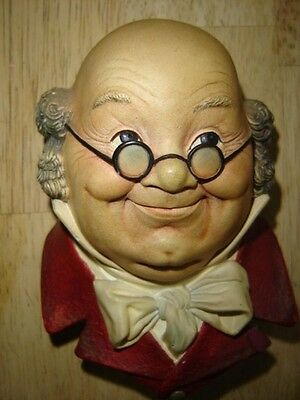 BOSSONS MR. PICKWICK CHALKWARE WALL HANGING 1964 ENGLAND