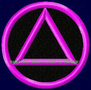 Embroidered Patch Aa  Sobriety Logo Pink