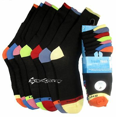 7 x Mens Days of The Week Poly/ Cotton Socks Shoe Size 6-11