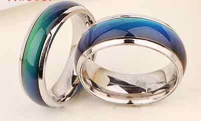 Hot Design Fashion Wholesale Lots Mix Color Changable Mood Rings 8mm For Love