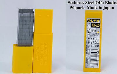 Olfa ABS S50 Stainless Steel Snap Off Blades SS 50 pack  Auto Tint Made in Japan