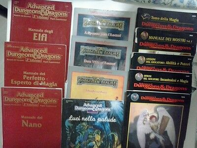 LOTTO MANUALI D&D TSR AD&D 2° EDIZIONE DUNGEONS&DRAGONS