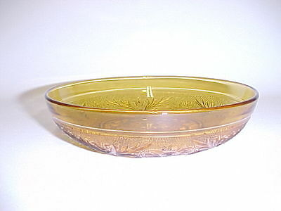 Amber Sandwich Cereal Bowl / 7 Available / Hocking / HTF