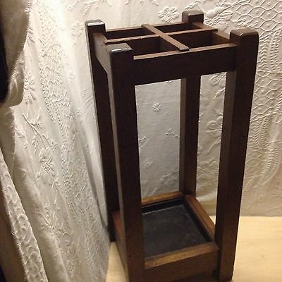 Mission Style Mohagny Umbrella Stand 12 X28  Ing Tall