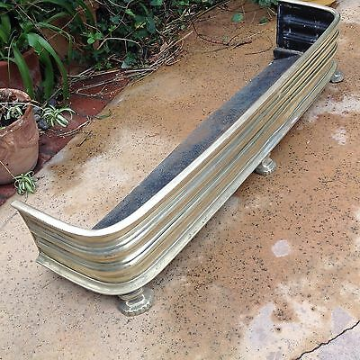 SOLID BRASS FIREPLACE FENDER 45 1/2 x 8 1/2""