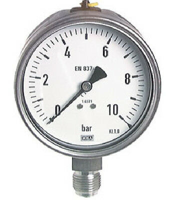 100 mm Stainless Steel Manometer 0/40 Bar Chemical Industry
