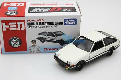 NEW Takara Dream Tomica Tomy #158 Initial D AE86 WHITE Trueno Diecast Toy Car