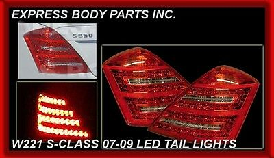New Mercedes Benz 2007-2009 S Class S550 Clear LED Tail Lamp Plug and Play W221