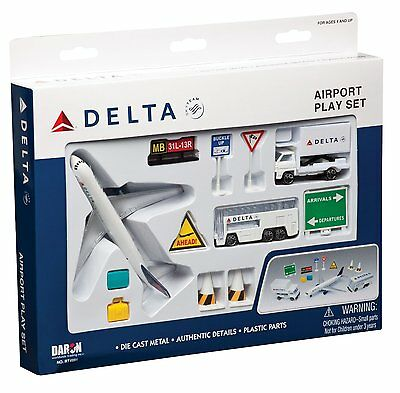 Premier Planes - RT4991 DELTA AIRLINES AIRPORT PLAYSET