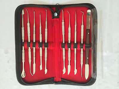 1set Dental Lab New Stainless Steel Kit Wax Carving Tool Set Lab Instrument