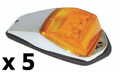 SEMI TRUCK 36 LED Cab Marker Lamp Lights SET OF 5