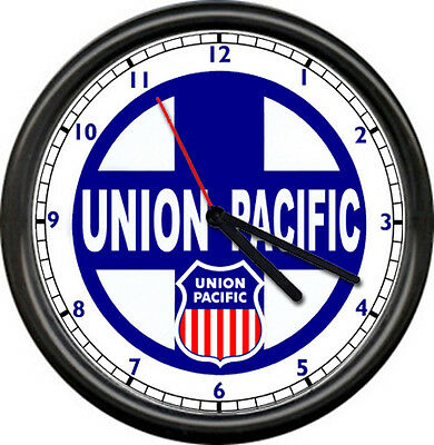 Union Pacific Lines Railroad Train Conductor Advertising Sign Wall Clock