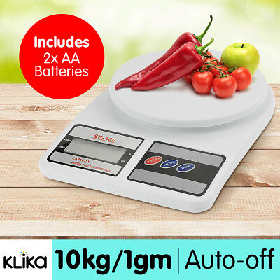 DIGITAL KITCHEN SCALES 10kg / 1gm ELECTRONIC FOOD POSTAL SCALES LOW PROFILE