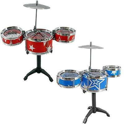 Fancy Mini Band Jazz Cymbal Drum Rock Set Children Kids Musical Christmas Gift