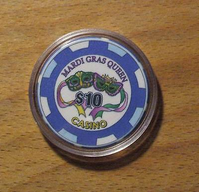 $10. MARDI GRAS QUEEN CASINO CHIP - Tarpon Springs, Florida