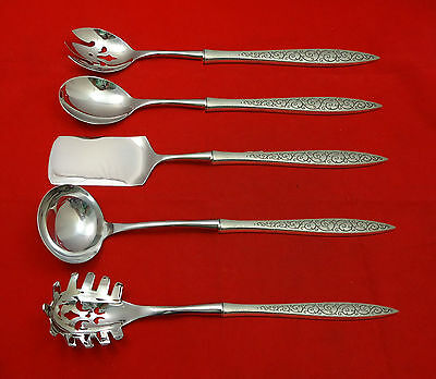 Spanish Lace by Wallace Sterling Silver Hostess Set 5pc HHWS  Custom Made
