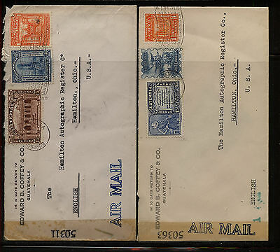 Guatemala  2 censor covers to US tape # 50363 &50311